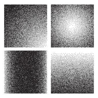 Textures de grain. croquis effet granuleux imprimé dégradé. tectures grunge de bruit de demi-teinte sable