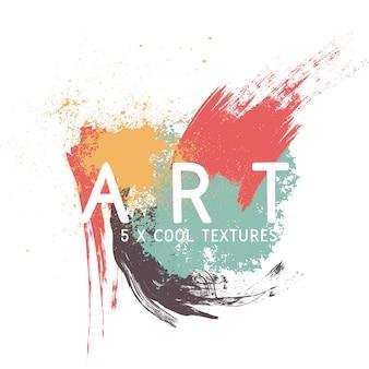 Textures de peinture de conception de fond