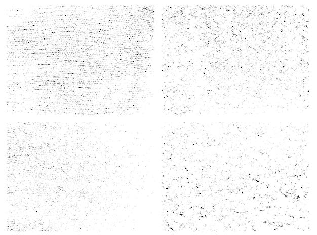 Textures De Superposition En Détresse De Surface Rugueuse Vecteur Premium