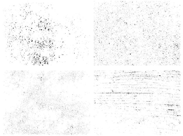 Textures De Superposition En Détresse De Surfaces Rugueuses Vecteur Premium