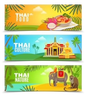 Thaïlande bannières horizontales