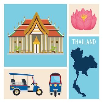 Thaïlande quatre icônes