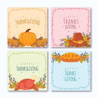 Thanksgiving day instagram post design