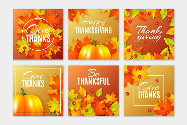 Thanksgiving day instagram posts