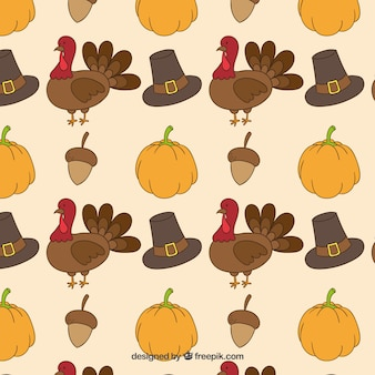 Thanksgiving motif dessiné