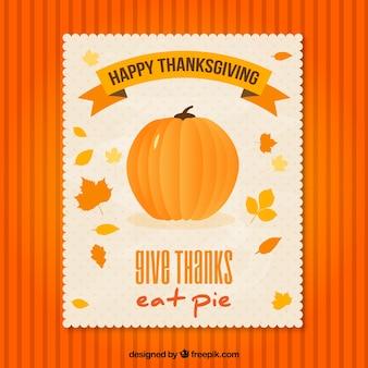 Thanksgiving pumpkin flyer