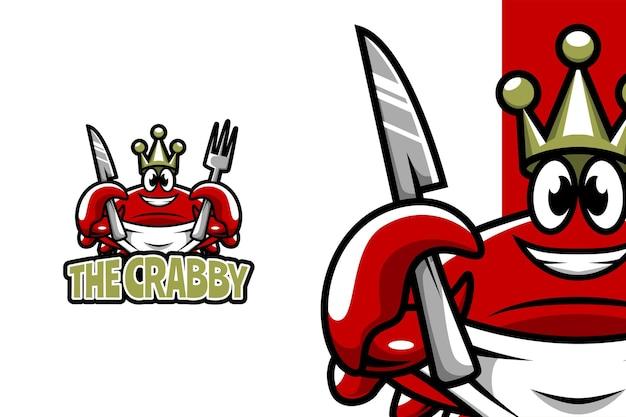 The crabby - modèle de logo de mascotte