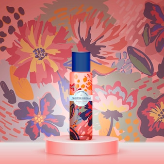 Thé de rêve de fleurs avec un design aquarelle