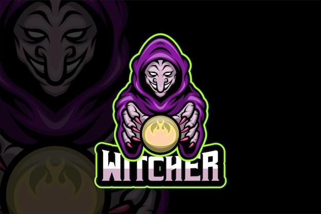 The witcher - modèle de logo esport