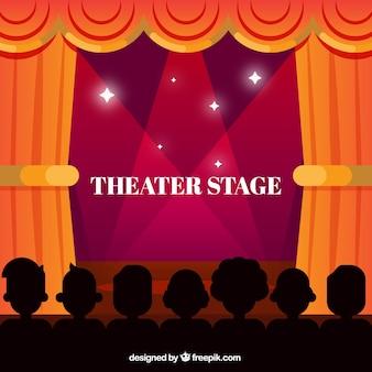 Théâtre fond de scène