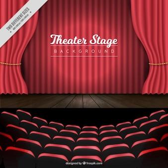 Théâtre réaliste scène de fond
