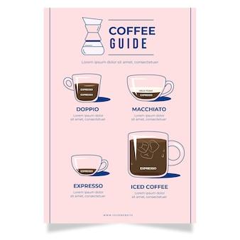 Thème de l'affiche du guide du café