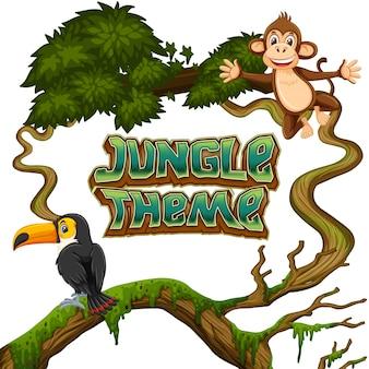 Thème animaux dans la jungle