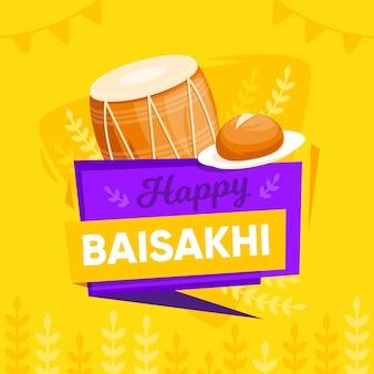 Thème de baisakhi heureux design plat