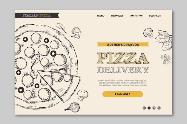 Thème de bannière de modèle de restaurant italien