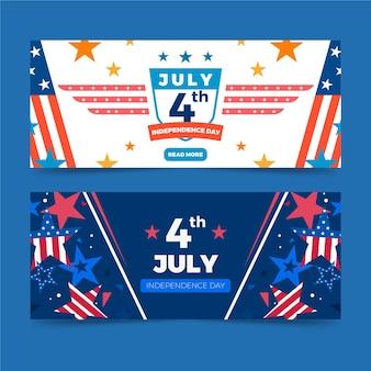 Thème des bannières de la fête de l'indépendance