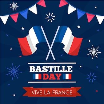Thème bastille day design plat