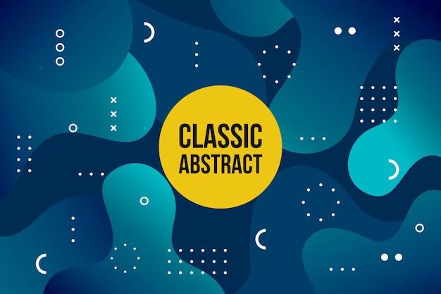 Thème bleu classique abstrait pour papier peint