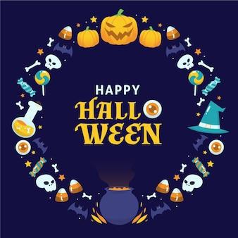Thème de cadre d'halloween heureux