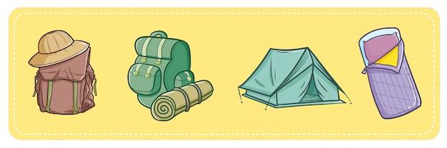 Thème de camping mignon