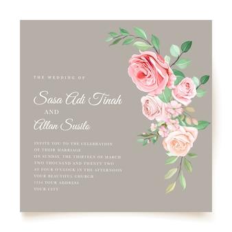 Thème de carte d'invitation floral aquarelle