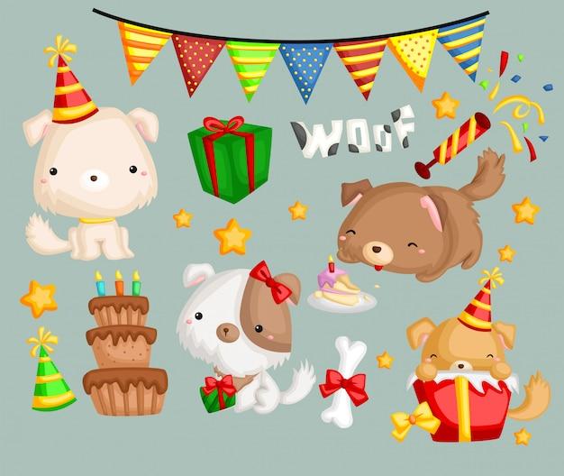 Thème chien anniversaire