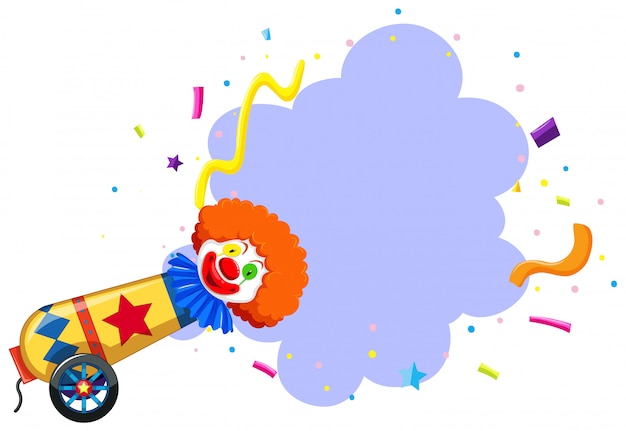 Un thème de clown de cirque coloré