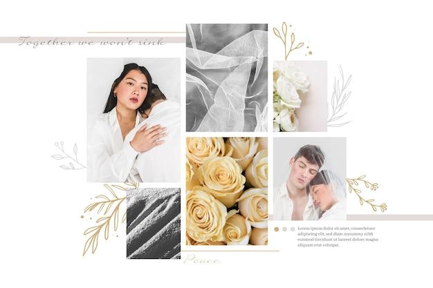 Thème De Collage De Photos Vecteur gratuit