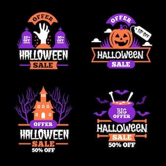 Thème de la collection de badges de vente halloween