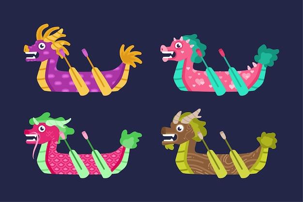 Thème de la collection de bateaux-dragons