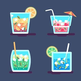 Thème de la collection de cocktails