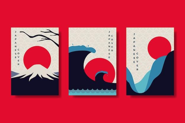 Thème de la collection de couvertures japonaises minimalistes