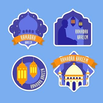 Thème de la collection d'étiquettes ramadan