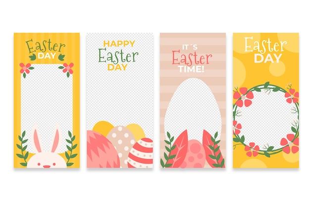 Thème de collection d'histoires instagram de jour de pâques