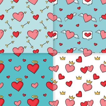 Thème de collection motif coeur
