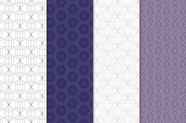 Thème de collection de motifs géométriques minimes