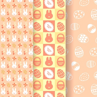 Thème de collection de motifs de pâques