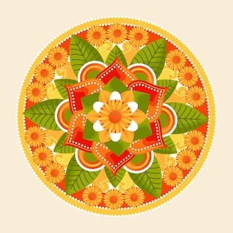 Thème de décoration florale onam