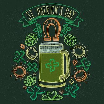 Thème dessiné à la main pour st. patricks day