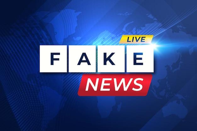 Thème de diffusion en direct de fausses nouvelles