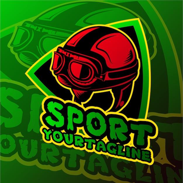 Thème du crâne du logo de jeu esports