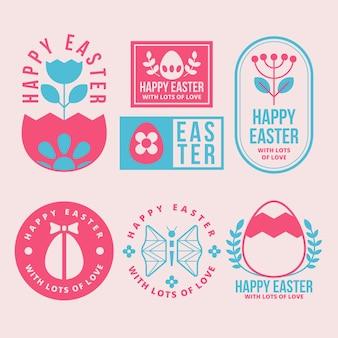 Thème du jour de pâques pour la collection d'étiquettes