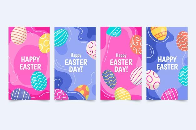 Thème du jour de pâques pour la collection d'histoires instagram