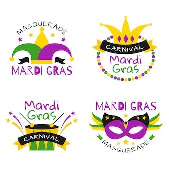 Thème du mardi gras pour la collection de badges