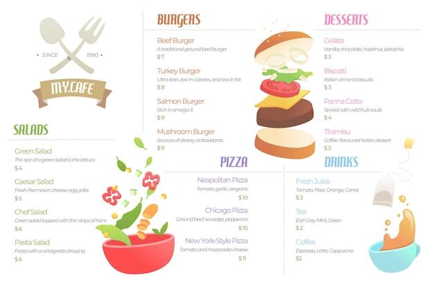 Thème du menu du restaurant numérique