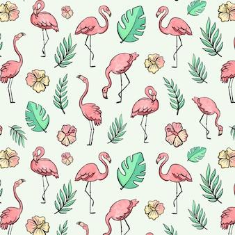 Thème du motif flamingo