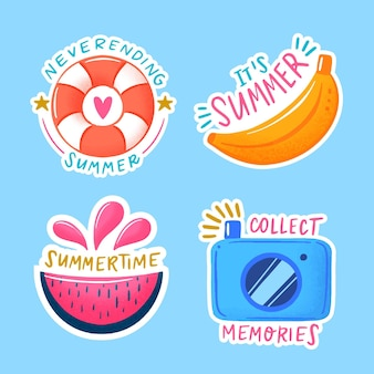 Thème du pack d'étiquettes d'été