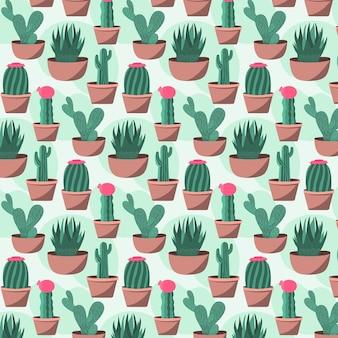 Thème du pack de motifs de cactus