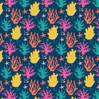 Thème du pack de motifs corail