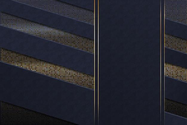 Thème du papier peint avec des détails dorés